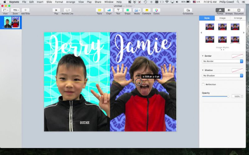 Combine Photos on Keynote
