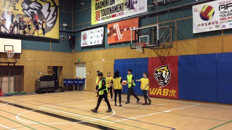 G7 -1 basketball (d)  Amanda, Jacob, Sarah vs Lui, Ethan and Itay