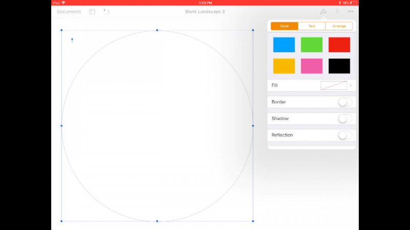 Creating a Venn Diagram on Pages with iPads
