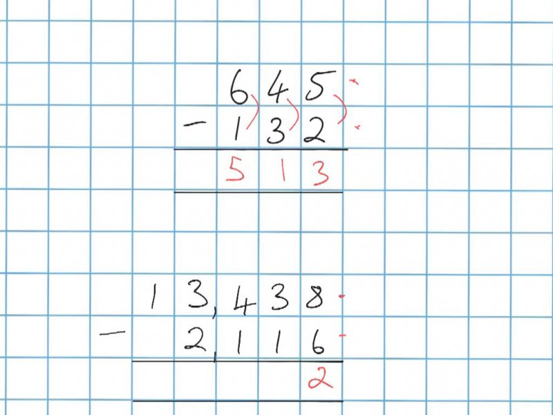 Subtraction when all digits are larger