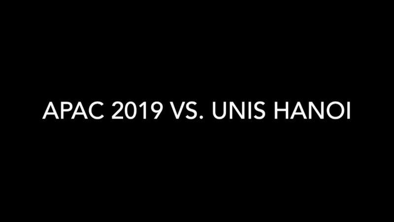 APAC 2019 Varsity Boys Soccer vs. UNIS Hanoi