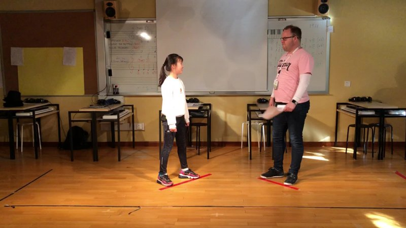 Chuqi and Mr Paul perform the melodrama, 'How Could You.'