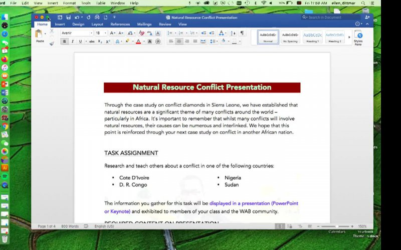 Natural Resource Conflict Task Explanation
