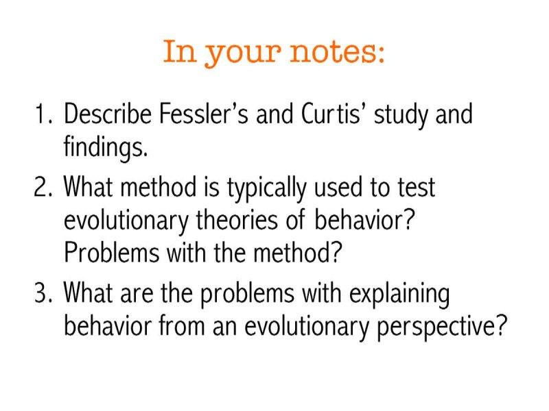 Evolutionary Explanations of Behavior