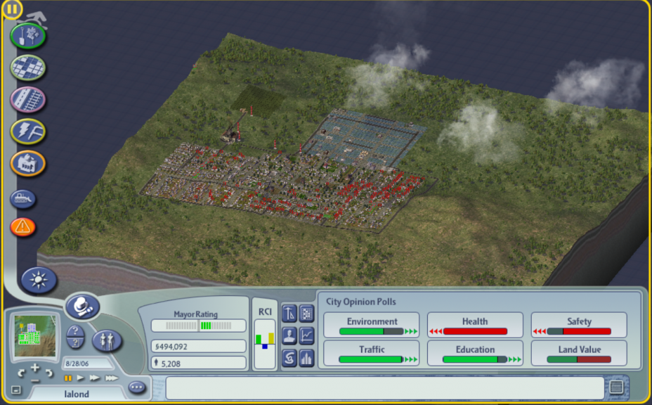 My Sim City Reflection