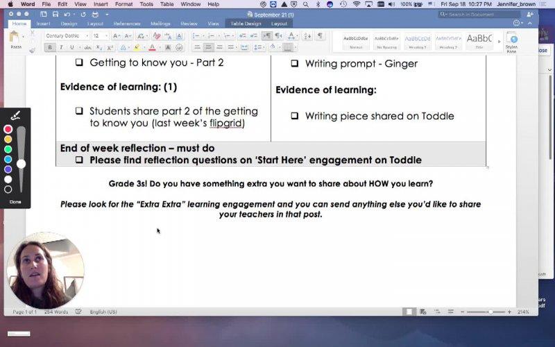 Week 4 checklist instructions