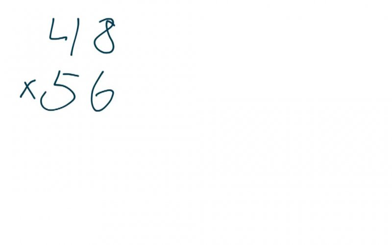 Traditional Method For Double Digit Multiplication.
