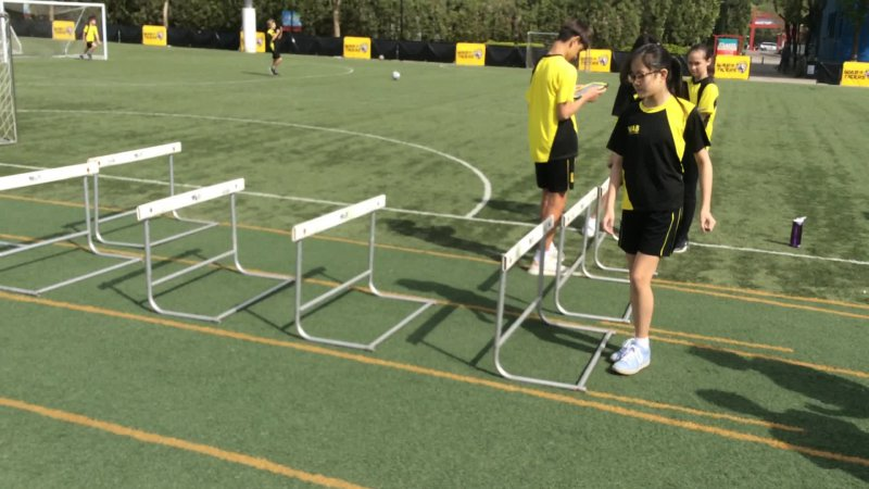 PHE Hurdles Drill: Side Step Over