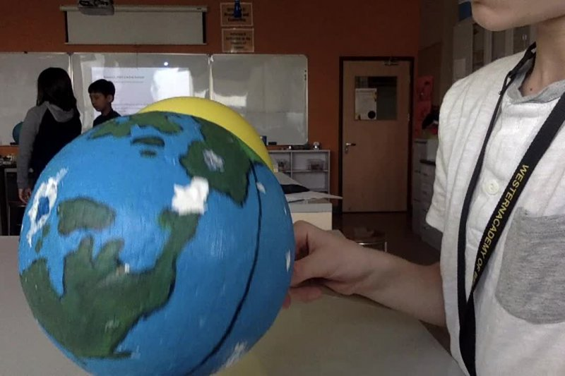 Earth in space science video